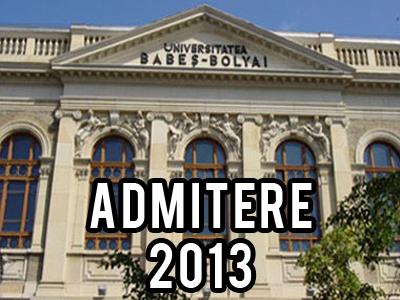 admitere universitatea babesbolyai 2013