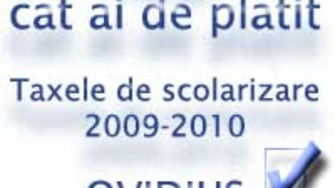 Taxele de scolarizare pentru anul universitar 2009-2010
