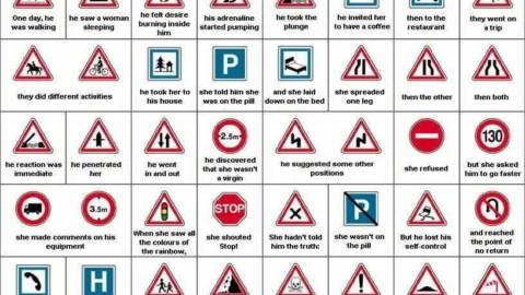 Poza cu indicatoare: Ce inseamna de fapt semnele din trafic
