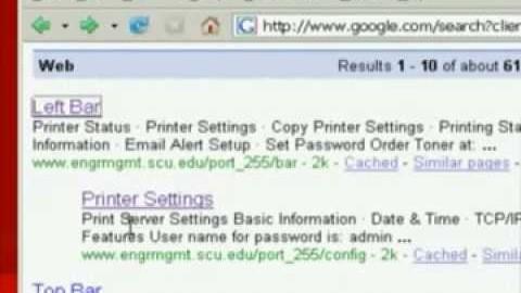 Videoclip Google Hacks