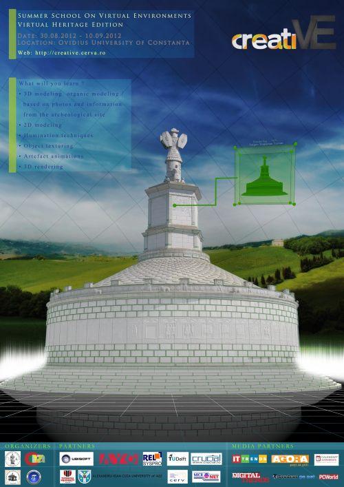 """Scoala de Vară de Medii Virtuale din România - """"Virtual Heritage Edition"""" (creatiVE)"""