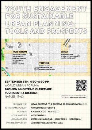 Forumul Mondial Urban 6: Asociația Odaia Creativa si rolul tinerilor in procesele de planificare urbana