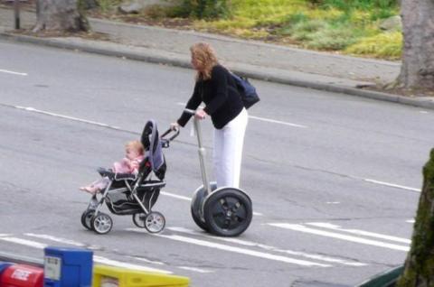 Cu mami la plimbare...