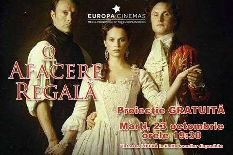 """Cityplex  Constanta: Proiectia filmului """"O AFACERE REGALA"""" - propunerea Danemarcei la Oscar 2012"""