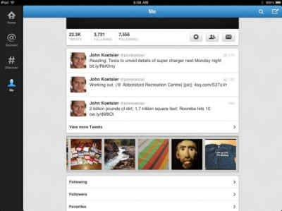 Noul Twitter: aplicaţie pentru iPad şi aplicaţii îmbunătăţite pentru iPhone şi Android