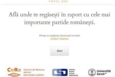 VOTUL MEU, o busolă politică online - Centrul pentru Studiul Democraţiei (Universitatea Babeş-Bolyai), eDemocracy Centre