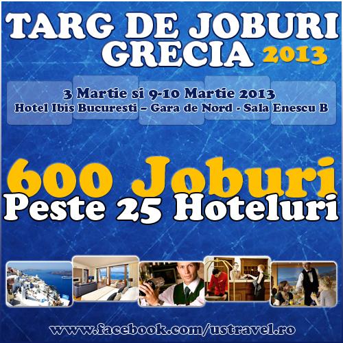 Vrei sa te angajezi la un hotel in Grecia? Viziteaza targul organizat de US Travel