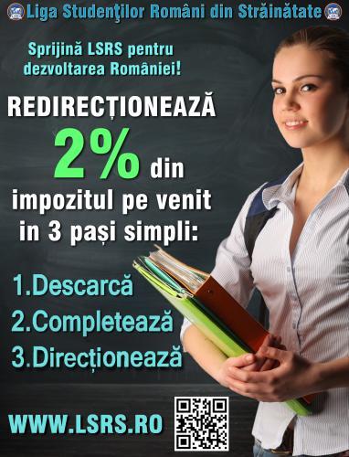 Redirectioneaza 2% pentru LSRS - Sprijinul VOSTRU, viitorul Romaniei!