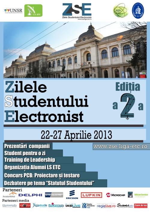 """Liga Studenţilor Electronişti din Iasi  organizeaza """"Zilele Studentului Electronist"""""""