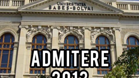 Admitere 2013 – Facultatea de Fizica – Universitatea Babes Bolyai